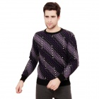 DI GUO BAO WANG Printing Gradient Plaid Men's Thermal Underwear Suits - Multicolored (Size XXL)