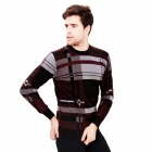DI GUO BAO WANG Printing Red Plaid Men's Thermal Underwear Suits - Multicolored (Size XXL)