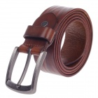 Fashionable Head Layer Cowhide Men's Waist Belt w/ Zinc Alloy Buckle - Brown