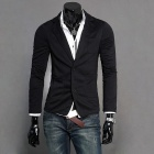 Fashionable Men's Knitted Small Suit - Black (Size-L)