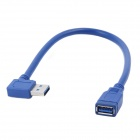 ULT-3218 USB 3.0 Male to Female Vertical Angle Converter Cable - Blue (30CM)