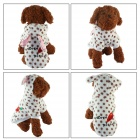 Cute Radish Rabbit Style Pet Dog Apparel Clothes - White + Brown (Size M)