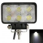 Buy LML-1518 18W 1260-1350lm 6-LED 6000K 60 Degree Flood Beam Car LED Light - Black (DC10-30V)