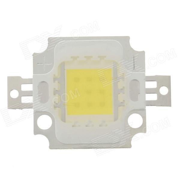 10W 1000LM 6200k 1-COB White Light LED Emitter - Silver + Yellow (29~31V / 300mA)