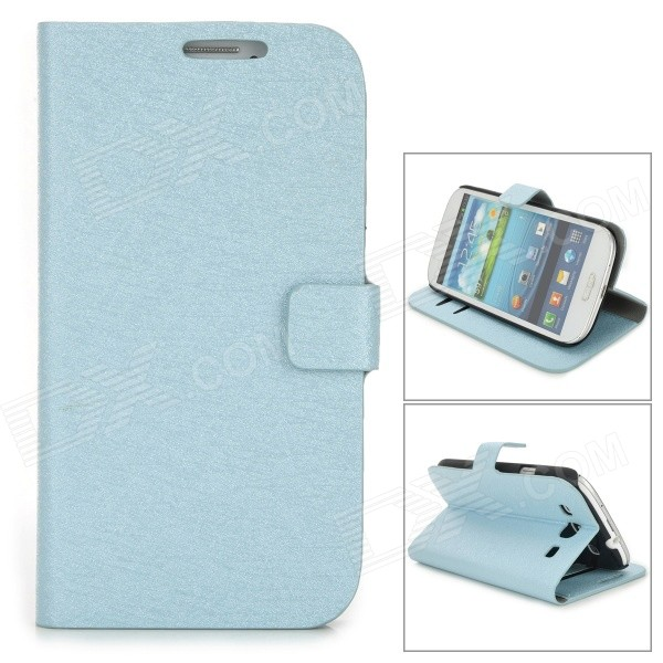 Фото Silk Style Protective PU Leather Case for Samsung Galaxy S3 i9300 - Blue стилус other apple ipad samsung galaxy s3 i9300 21 eg0628