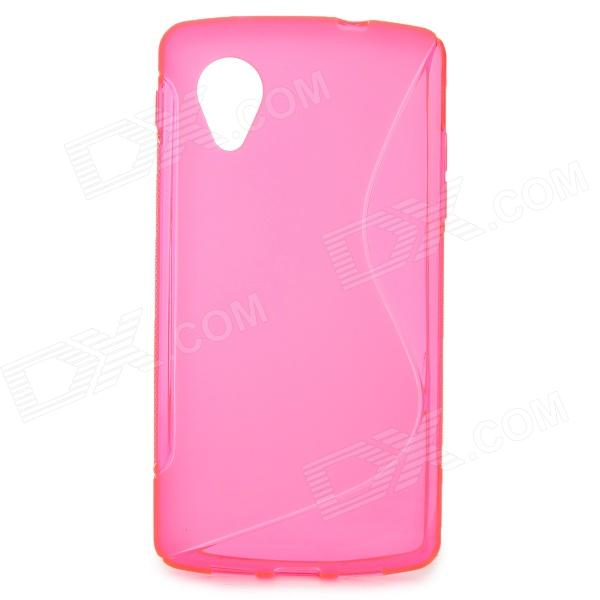 S Style Protective TPU Back Case for LG Nexus 5 - Deep Pink s style protective tpu back case for htc 8s translucent deep pink