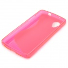 """S"" Style Protective TPU Back Case for LG Nexus 5 - Deep Pink"