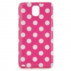 Polka Dot Style Protective TPU Back Case for Samsung Galaxy Note 3 - Deep Pink + White