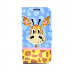 LOFTER Cute Giraffe Style Flip Open PU Leather Case Cover for Samsung Galaxy S4 i9500 - Multicolored