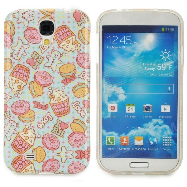 Cute Cartoon Patterned TPU Back Case for Samsung S4 i9500 - Multicolored protective cute spots pattern back case for samsung galaxy s4 i9500 multicolored