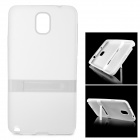 Protective TPU Back Case w/ Stand for Samsung Galaxy Note 3 - Translucent White