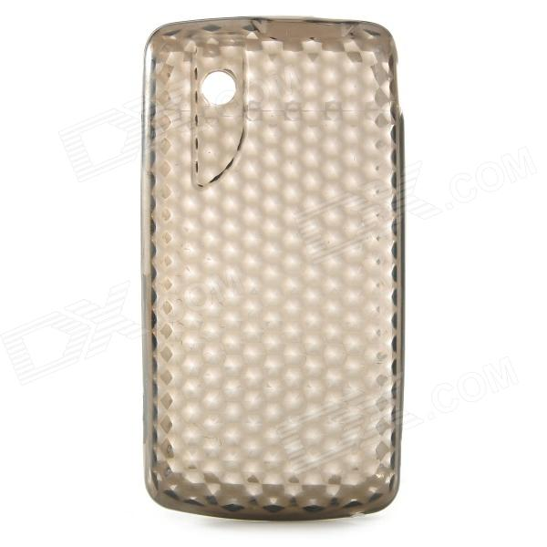 Stylish Protective TPU Back Case for ZTE V880 - Translucent Grey