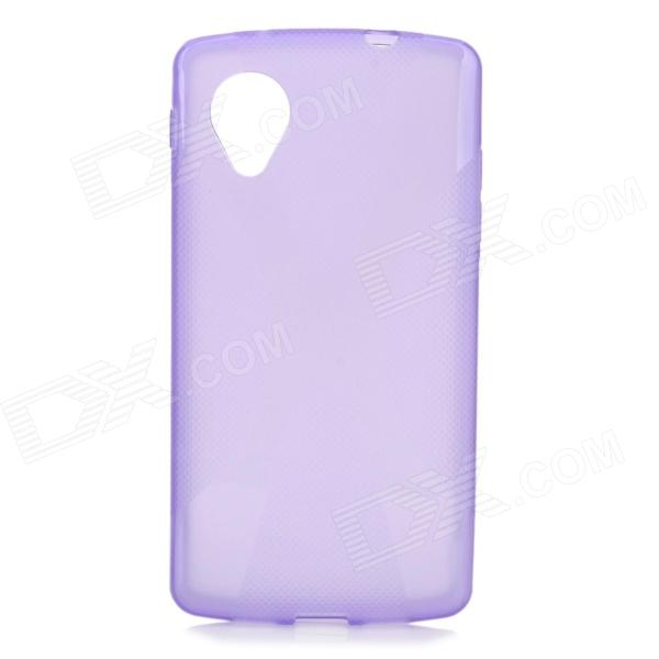 """X"" Style Protective TPU Back Case for LG Nexus 5 - Translucent Purple"