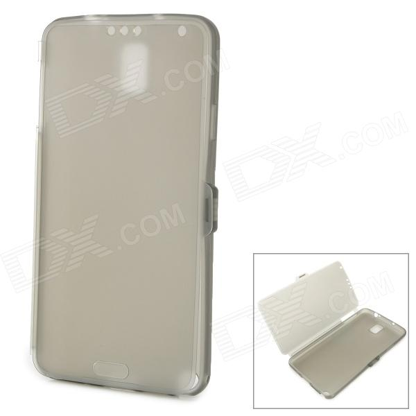 Protective Frosted TPU Case for Samsung Galaxy Note 3 - Translucent Grey