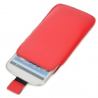 Protective PU Leather Pouch Bag for Samsung Galaxy S3 i9300 - Red