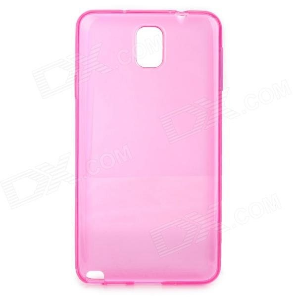 Protective TPU Back Case for Samsung Galaxy Note 3 - Translucent Deep Pink metal ring holder combo phone bag luxury shockproof case for samsung galaxy note 8