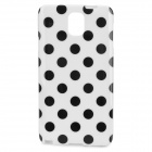 Polka Dot Style Protective TPU Back Case for Samsung Galaxy Note 3 - White + Black