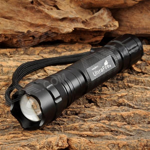 UltraFire 503B 500lm 5-Mode White Zooming Flashlight w/ Cree XM-L U2 - Black (1 x 18650)