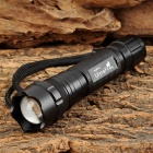 UltraFire 503B Cree XM-L U2 500lm 5-Mode White Zooming Flashlight - Black (1 x 18650)