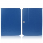 ENKAY ENK-7038 PU Leather Case Cover Stand w / Card Slot for Samsung Galaxy Tab 3 P5200 - Blue