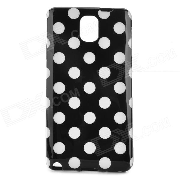 Polka Dot Style Protective Silicone Back Case for Samsung Galaxy Note 3 - Black + White 5pcs sn74ls08n dip14 sn74ls08 dip 74ls08n 74ls08 new and original ic free shipping