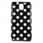 Polka Dot Style Protective Silicone Back Case for Samsung Galaxy Note 3 - Black + White