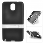 Protective Silicone Back Case w/ Stand for Samsung Galaxy Note 3 - Black + White