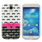 Bowknot & Mustache Style Protective TPU Case for Samsung Galaxy S4 i9500 - Deep Pink + Black + White