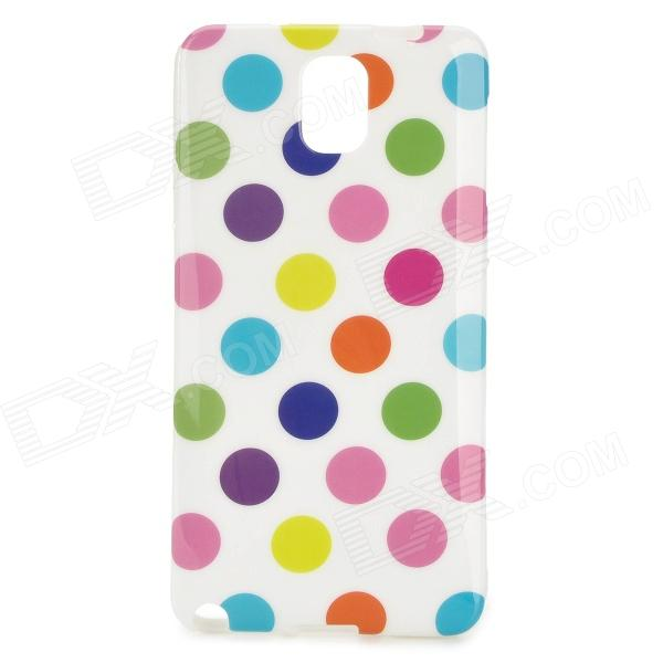 Polka Dot Style Protective Silicone Back Case for Samsung Galaxy Note 3 - White + Multicolor handpainted cactus and polka dot printed pillow case