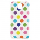 Polka Dot Style Protective Silicone Back Case for Samsung Galaxy Note 3 - White + Multicolor