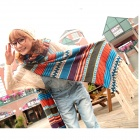 C17-2146-J998 Bohemian Style Long Wool Warm Scarf - Multicolored