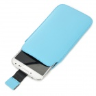 Protective PU Leather Bag Pouch para Samsung Galaxy S4 i9500 - Azul