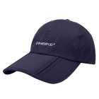 INBIKE Stylish Outdoor Windproof Sun Block Dacron Cap Hat for Cycling - Navy Blue