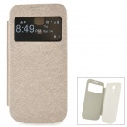 Ultradünne Protective PU Leather Case w / Display-Fenster für Samsung Galaxy S4 Mini i9190 - Champagne