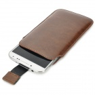 Protective PU Leather Pouch Case for Samsung Galaxy S4 - Brown
