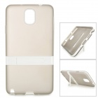 Protective Silicone Back Case w/ Stand for Samsung Galaxy Note 3 - Translucent Grey + White