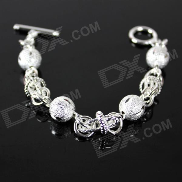 Fashion Bead Jewelry Bracelet - Silver s925 wholesale silver jewelry mens handmade in thailand silver buckle 6m dragonscale simple bracelet