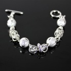 Fashion Bead Jewelry Bracelet - Silver