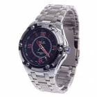 WEIDE WH-1108 Fashionable Men's Quartz Wrist Watch - Silver + Black + Red (1 x CR2016)