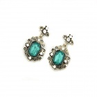 Fashionable Resplendent Zinc Alloy Women's Earrings - Blue