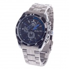 WEIDE WH-1112 Fashionable Men's Quartz Wrist Watch - Silver + Black + Blue (1 x CR2016)