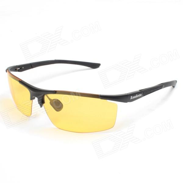 ReeDoon 8282 Professional Riding Polarized UV400 Protection Sunglasses - Yellow + Black reedoon 1417 trend of the goddess hip hop sunshade sunglasses black golden
