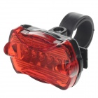 SBENBA SB-210 5-LED 50lm 650nm 3-Mode Red Bicycle Safety Warning Light - Black + Red (2 x AAA)