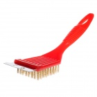 HOMECOOK NX-5722 Handliche Multifunktionale Barbecue Grill Brush - Rot + Silber