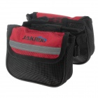 JAKROO CG04YW-116 Bicycle Front Tube Bag - Black + Red