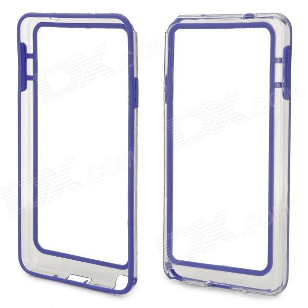 HD Protective Plastic Bumper Frame for Samsung Galaxy Note 3 - Blue + Transparent protective tpu bumper plastic back case for samsung note 3 transparent