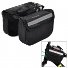 INBIKE GB-2  Handy Water Resistant 120D Mesh Fabric Saddle Double Bag for Bicycle - Black