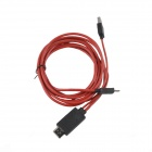 SM-07 MHL Micro USB to HDMI HDTV Adapter Cable for Samsung Galaxy S3 i9300 / Note 2 - Red + Black
