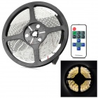 3528-ww-RF 24W 1000lm 3500K Warm White 300-3528 SMD LED Light Strip - Black + White + Yellow (5m)