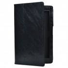 Crazy Horse Pattern 2-Fold Protective PU Leather Case Cover Stand for Sony Xperia Tablet Z - Black